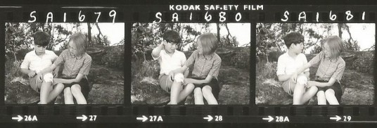 Contact sheet - Sten Grendon and Sophie Neville on Cormorant Island