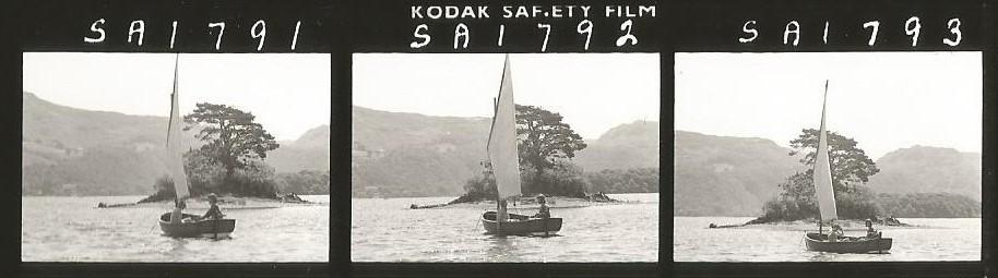 Contact sheet - Suzanna Hamilton and Sophie Neville sailing Amazon