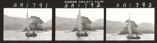 Contact sheet - Suzanna Hamilton and Sophie Neville sailing Amazon