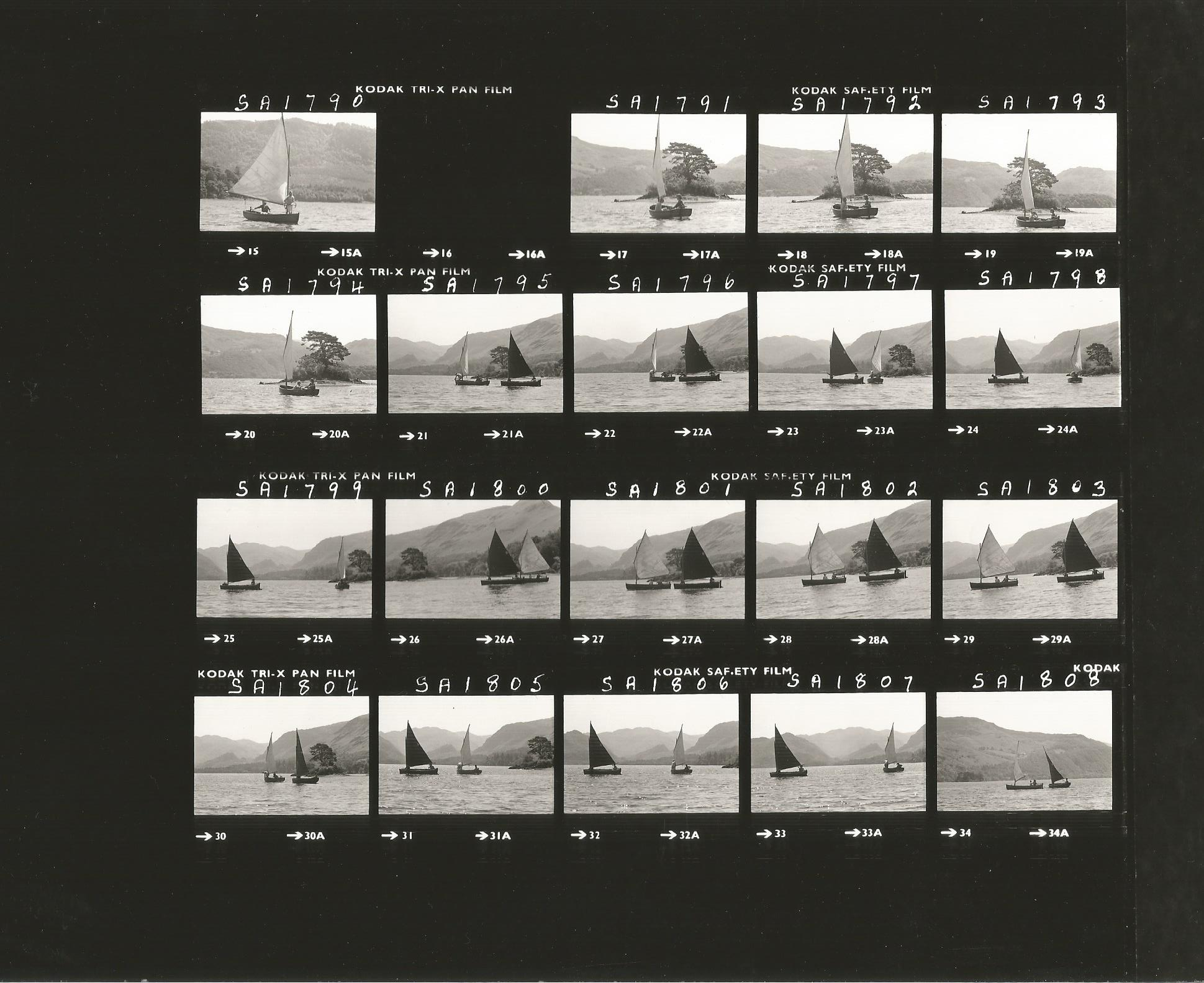 The Making of Swallows & Amazons contact sheet - both boats