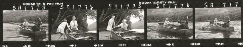 Virginia McKenna with Sophie Neville on Wild Cat Island - contact sheet