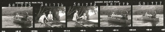 Virginia McKenna with Sophie Neville on Wild Cat Island - contact sheet