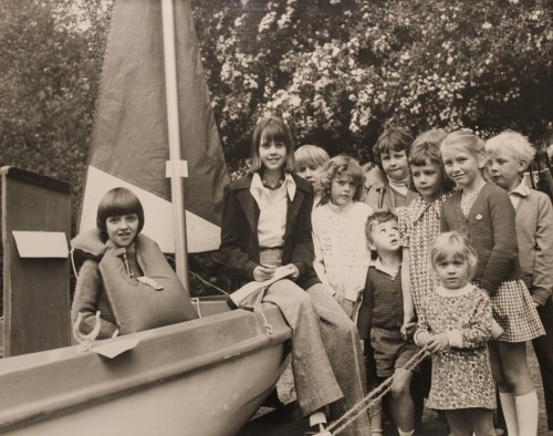 Lesely Bennett's visit to Chiddingstone School's Boat Fair in 1974