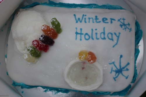 Winter Holiday cake - the tarn