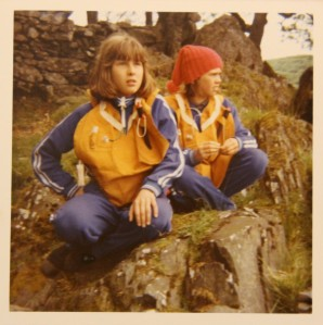 Kit Seymour and Lesley Bennett in life jackets