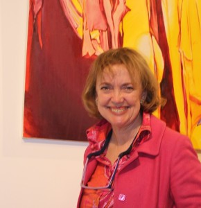 Sophie Neville at Araminta Blue's art exhibition 2017