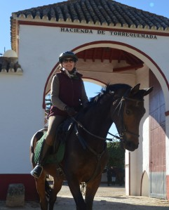 Sophie Neville riding from Hacienda de Torrequemada 2017