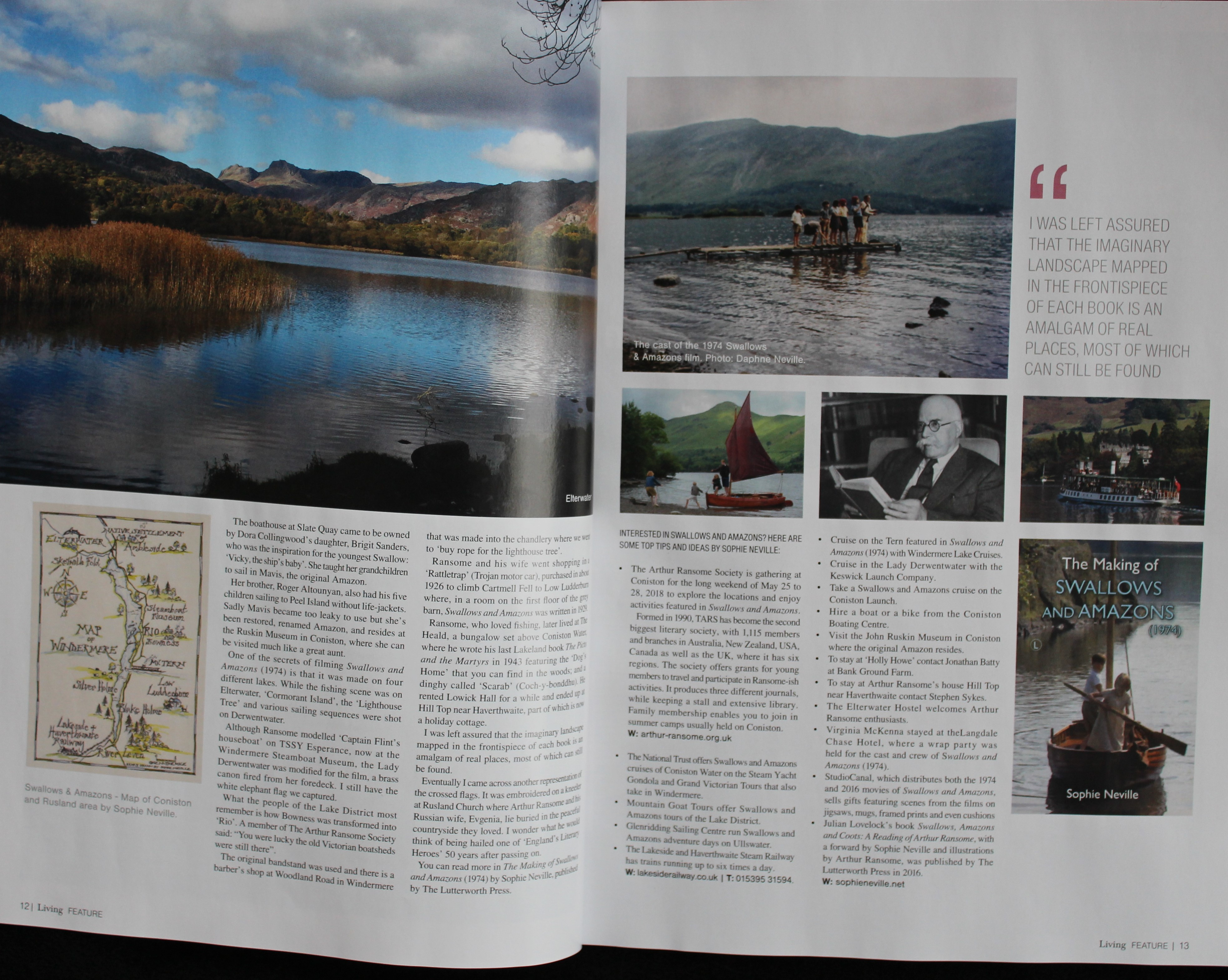 Article on how to find Swallows and Amazons locations