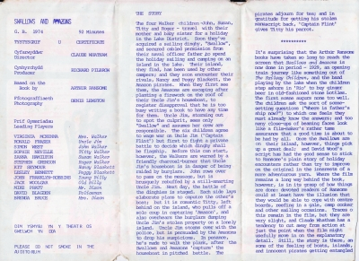 9a. Leaflet programme for S and A film Theatr Clwyd 1976_reverse.JPG
