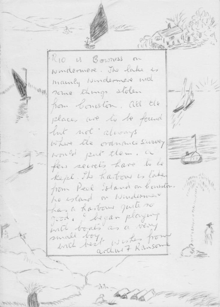 Letter from Arthur Ransome