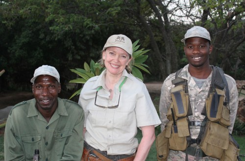 Sophie Neville with Save The Waterberg Rhino game scouts
