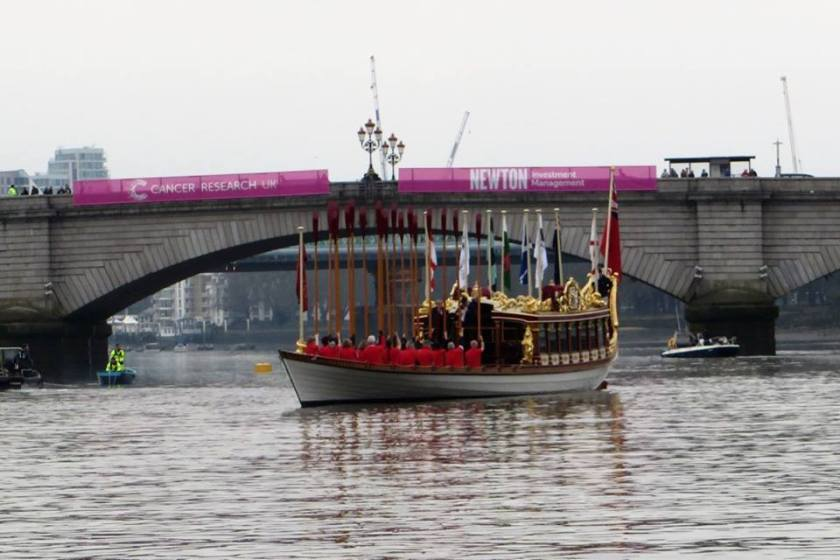 Gloriana salute on the Thames