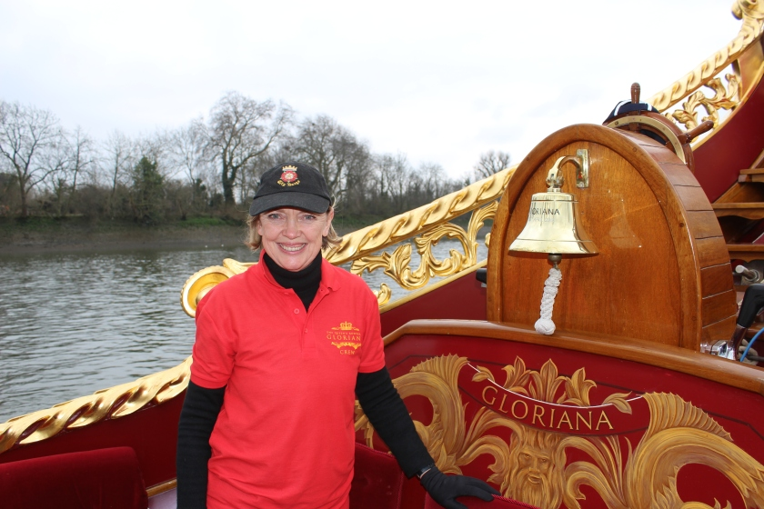 Sophie Neville on the crew of the Queen's Row Barge Gloriana