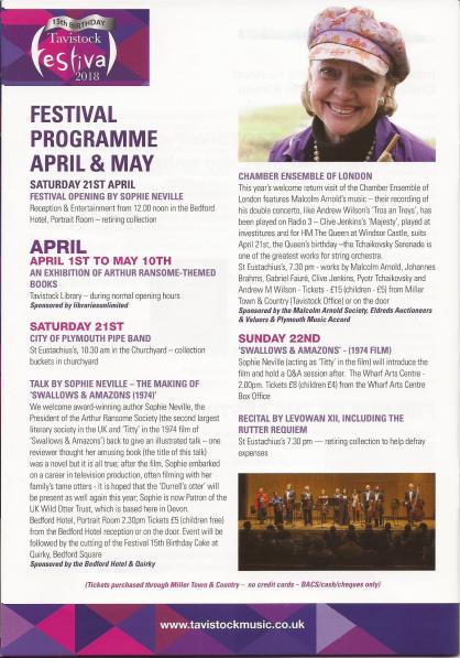 Author Sophie Neville giving talks at the Tavistock Festival in Devon - Literary Festivals