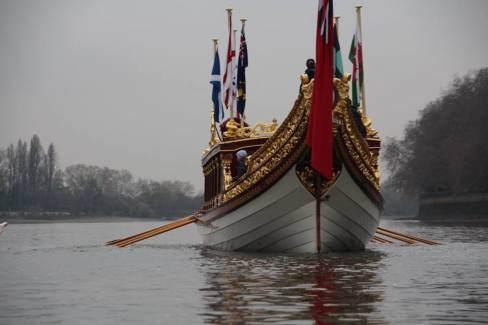 The Gloriana from the water