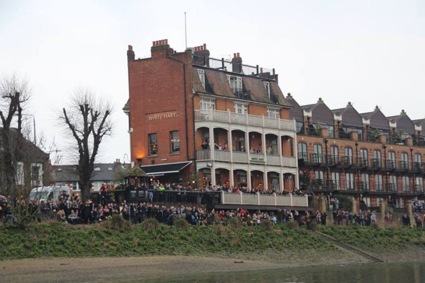 The White Hart pub on the Thames
