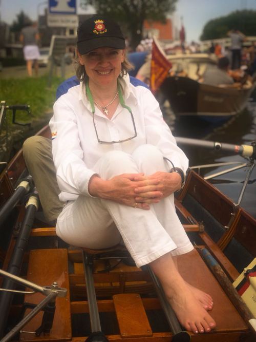 Sophie Neville rowing in the Netherlands 2018