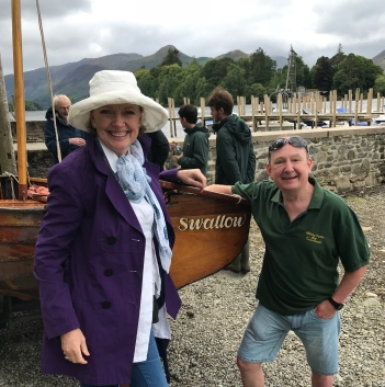 Sophie Neville with Robin Pratley and Swallow