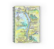 Spiral notebook with map of Windermere