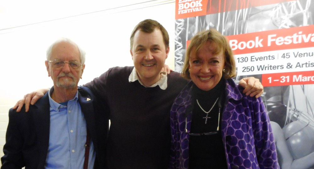 Peter Willis, Neil D'Arcy-Jones and Sophie Neville at the Essex Book Festival 2019