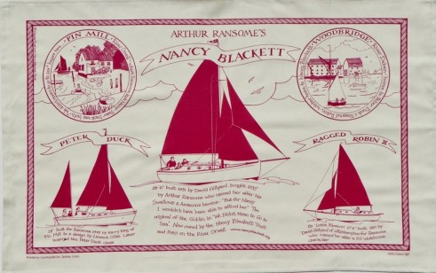 Three Ships Teatowel by Claudia Myatt