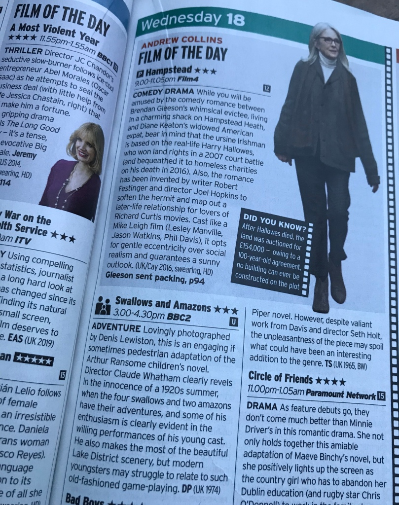Radio Times billing of Swallows and Amazons Christmas 2019