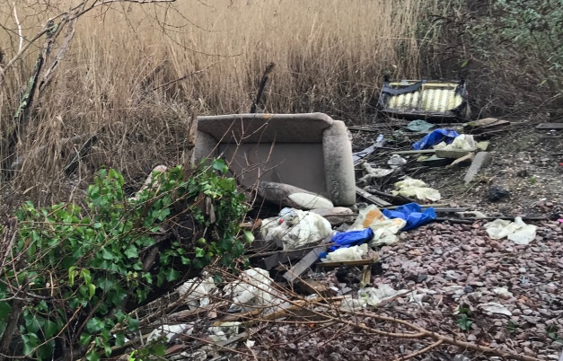 Rubbish Nature Reserve fly tipping