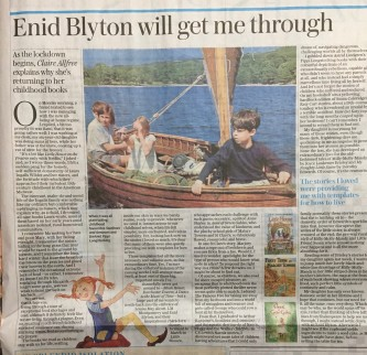Sophie Neville in the Telegraph March 2020