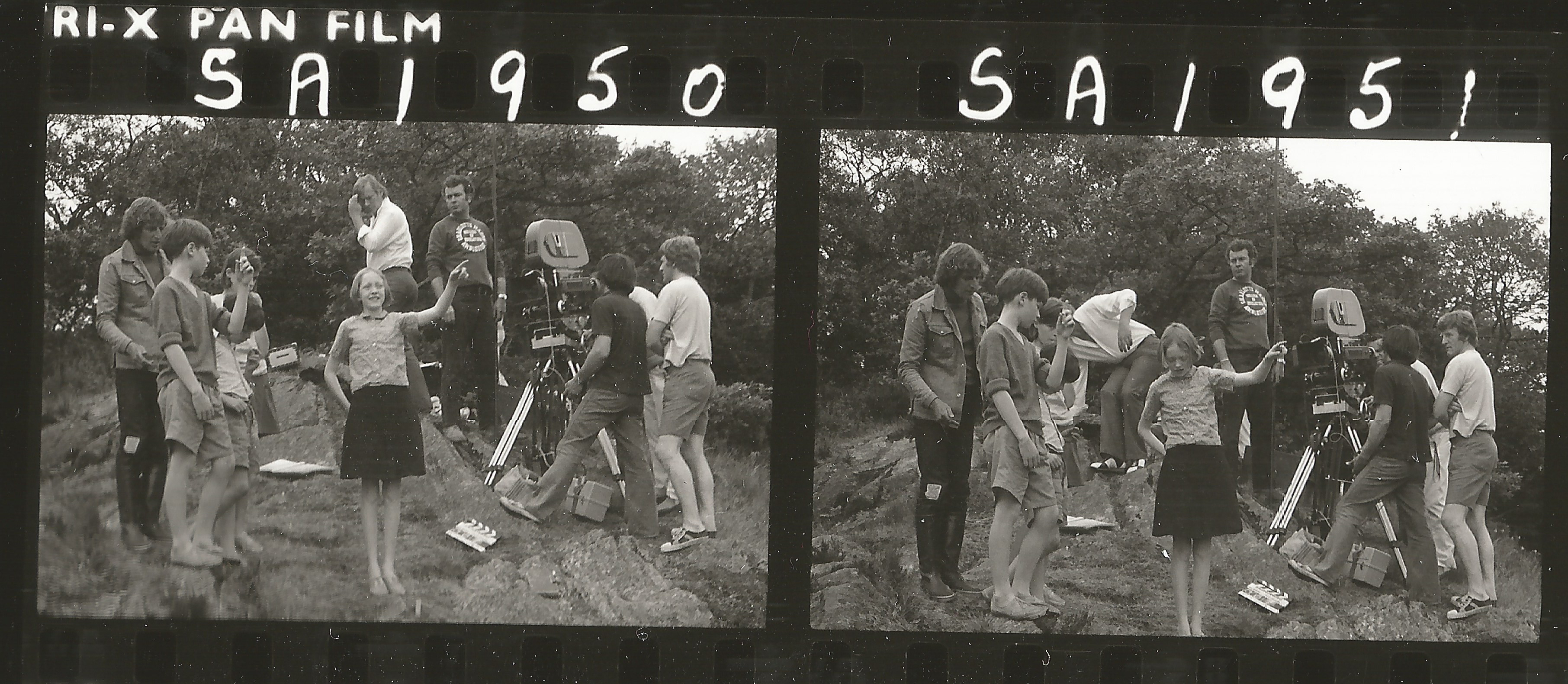 Claude Whatham directing Swallows and Amazons 1974 with Simon West and Sophie Neville