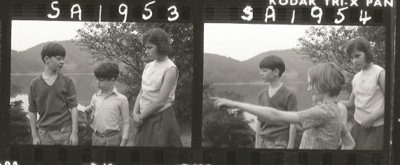 Filming Swallows and Amazons on Peel Island in 1973