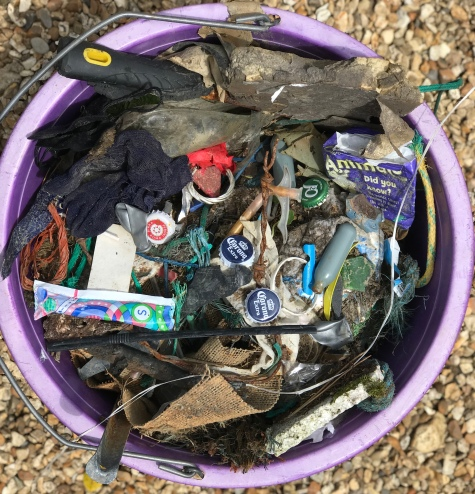 Sea plastic found by Sophie Neville